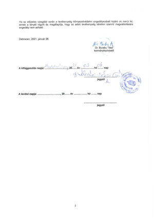 HBM Kormányhivatal - Közlemény