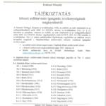 Tájékoztatás - körzeti erdőtervezés igazgatási tevékenységének megkezdéséről